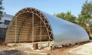 Строительство каркасных арочных ангаров