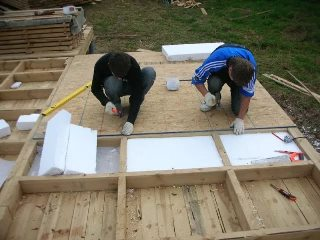фото постройки каркасно-щитовой бани