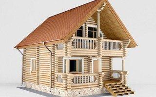 Проекты домов 5х5 из оцилиндрованного бревна в Екатеринбурге