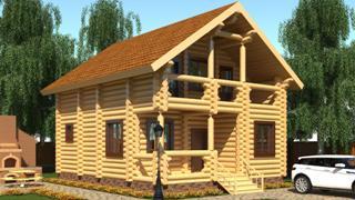 Проекты домов 5х6 из оцилиндрованного бревна в Екатеринбурге