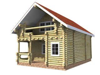 Проекты домов 6х6 из оцилиндрованного бревна в Екатеринбурге