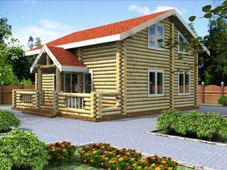 Проекты домов 6х7 из оцилиндрованного бревна в Екатеринбурге