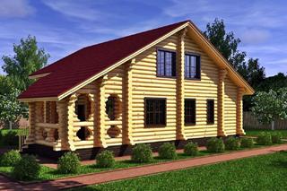 Проекты домов 6х8 из оцилиндрованного бревна в Екатеринбурге