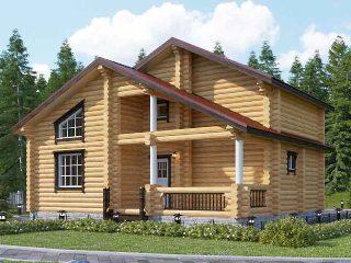 Проекты домов 6х9 из оцилиндрованного бревна в Екатеринбурге