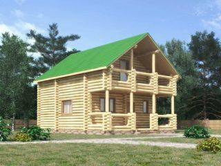 Проекты домов 7х7 из оцилиндрованного бревна в Екатеринбурге