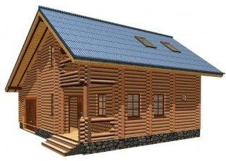 Проекты домов 7х8 из оцилиндрованного бревна в Екатеринбурге