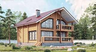 Проекты домов 8х10 из оцилиндрованного бревна в Екатеринбурге