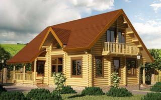 Проекты домов 9х9 из оцилиндрованного бревна в Екатеринбурге