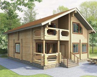 Проекты домов 9х10 из оцилиндрованного бревна в Екатеринбурге