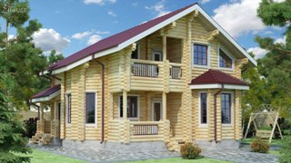 Проекты домов 9х12 из оцилиндрованного бревна в Екатеринбурге