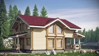 Проекты домов 10х10 из оцилиндрованного бревна в Екатеринбурге
