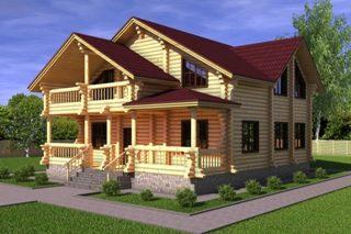 Проекты домов 10х12 из оцилиндрованного бревна в Екатеринбурге