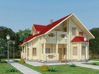 Проекты домов 11х11 из оцилиндрованного бревна в Екатеринбурге