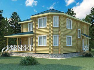 Проекты домов 12х12 из оцилиндрованного бревна в Екатеринбурге