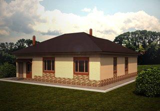 Проекты одноэтажных домов из кирпича в Екатеринбурге