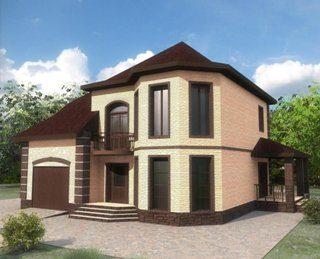 Проекты двухэтажных домов из кирпича в Екатеринбурге