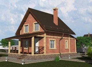 Проекты домов из кирпича 6х8 в Екатеринбурге