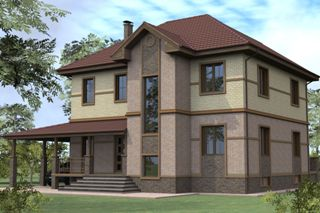 Проекты домов из кирпича 8х10 в Екатеринбурге