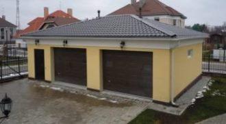Строительство гаража с мансардой