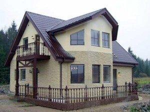 Фасадная отделка домов в Екатеринбурге