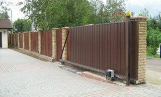 Откатные ворота под ключ в Екатеринбурге