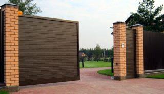 Фото процесса производства Откатные ворота для дачи