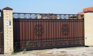 Кованые ворота откатные в Екатеринбурге
