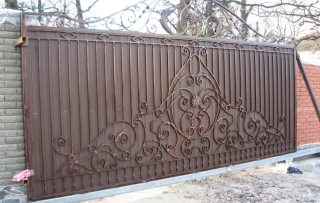 Фото процесса производства Кованые ворота откатные в Екатеринбурге