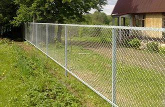Забор из сетки рабицы в Екатеринбурге