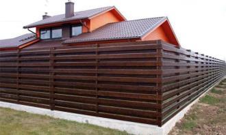 Деревянный забор под ключ в Екатеринбурге